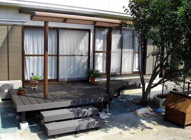 庭の形に合わせたデザイン 【高知市 M様邸】
