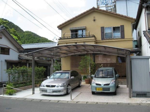 車庫とプライベートスペース 【須崎市 N様邸】